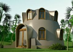 disaster resistant catenary dome  with loft - earhbag homes