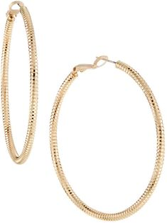 Romeo & Juliet Couture Pleated Hoop Earrings Fopt1v3iO