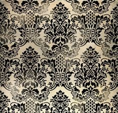 Wall Stencil Damask Flora - Allover Wallpaper Pattern Stencil di CuttingEdgeStencils su Etsy https://www.etsy.com/it/listing/62733701/wall-stencil-damask-flora-allover