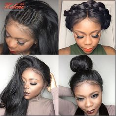 Glueless Brazilian Straight Wig Full Lace Human Hair Wigs For Black Women Lace Wigs Virgin Hair Lace Frontal Wig With Baby Hair