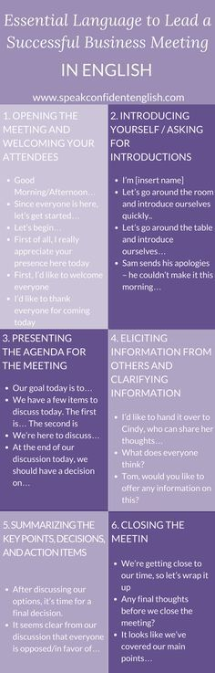 Have a business meeting in English this week? Get the language you need to communicate successfully. For more, visit the full lesson at: http://www.speakconfidentenglish.com/lead-business-meeting-english/?utm_campaign=coschedule&utm_source=pinterest&utm_medium=Speak%20Confident%20English%20%7C%20English%20Fluency%20Trainer&utm_content=Business%20English%3A%20How%20to%20Lead%20a%20Successful%2C%20Effective%20Business%20Meeting