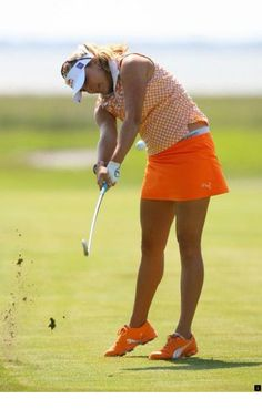 47a5328436 Lexi Thompson hits her second shot on the third hole during the first round  of the ShopRite LPGA Classic on the Bay Course at Seaview Resort on June  2012 in ...