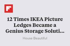 12 Times IKEA Picture Ledges Became a Genius Storage Solution http://flip.it/fCptQ