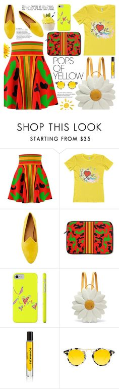 """""""Get Happy: Pops of Yellow (8)"""" by samra-bv ❤ liked on Polyvore featuring Le Monde Beryl, Charlotte Olympia, D.S. & DURGA and Krewe"""