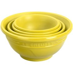 From measuring out ingredients to serving up dips and condiments the heat resistant Le Creuset Prep Bowl Set FA205-1M in Soleil yellow is a stylish choice no matter what you use them for. Heat resistant up to 480 degrees F and dishwasher safe. $19.95