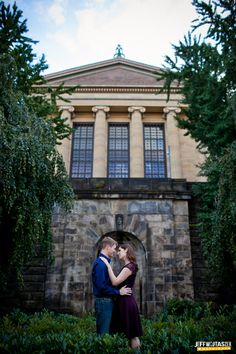 Philadelphia Art Museum Engagement Photos...i love this shot!  and i know where this spot is too! right near the parking garage!!