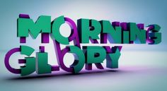 Cool Typography Artworks. Morning Glory by Christian Del Moral