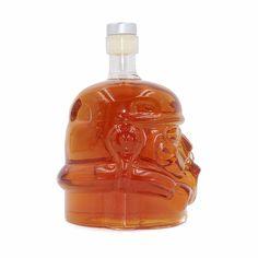Glass Water Bottle Vase for Decoration Home Glass DIY Water Bottle Novelty Star Wars Stormtrooper Helmet Glass Vodka Whisky