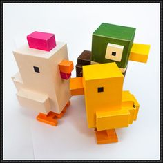 Crossy Road - Chicken Papercrafts Free Download - http://www.papercraftsquare.com/crossy-road-chicken-papercrafts-free-download.html