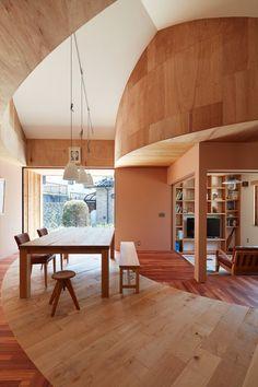 house in mukainada hiroshima fujiwaramuro architects holz interieur industrie stil inneneinrichtung japanischer