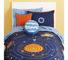 perfect bedding for the worst choice in theme rooms ever (never give a 5 year old control).  not too pricey. love orange.