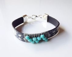 Sold! 15% OFF. Coupon code: GIFTS4ALL Leather women's bracelet Bohemian Leather Bracelet by Sifrimania #HANDMADEHOLIDAY #HEPTEAM