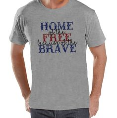 Stop by and check out our new item! Custom Party Shop.... Check it out here! http://7ate9apparel.com/products/custom-party-shop-mens-home-of-the-free-4th-of-july-grey-t-shirt-1?utm_campaign=social_autopilot&utm_source=pin&utm_medium=pin