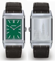 Jaeger-LeCoultre Grande Reverso Ultra Thin 1931 London Green Dial Edition front back - Perpetuelle
