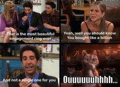 The Most Beautiful Engagement Ring Ever Ross Quote From Friends On