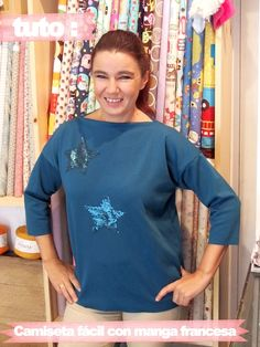 Tutorial: Paso a paso camiseta fácil de invierno con manga francesa   Manualidades