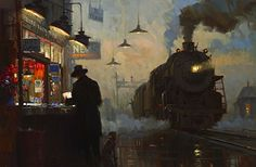 David Tutwiler train railroad oil painting RaymarArt Painting Competition Entry