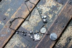 Toil and Trouble Charm Necklace  Cloudy Quartz Witch Witchcraft by earthcharms