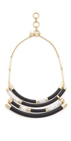 Alexis Bittar Color Block Crescent Bib Necklace | SHOPBOP