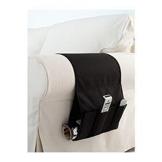 FLÖRT Organizador mandos a distancia IKEA Para guardar 4 mandos a distancia. Tiene un bolsillo posterior para periódicos, revistas, etc.
