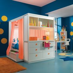 This so cool! Who knew Nickelodeon made furniture lol. TweenNick The Retreat Canopy Bed - Full $3150.00