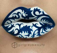 Beautiful Lips Art by Makeup Artist Andrea Reed - Girl Grey Beauty