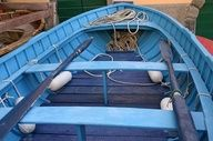 Turquoise boat in Venice, Italy #colorevolution