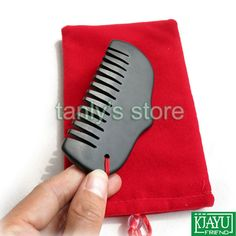 Find More Massage & Relaxation Information about High quality! Wholesale & Retail Traditional Acupuncture Massage Tool Guasha Beauty face Comb Natural black Bian Stone 105x55mm,High Quality Massage & Relaxation from Tanly's store on Aliexpress.com