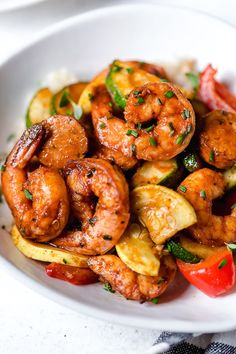 This fast and easy Cajun Shrimp recipe is a meal-in-one, made with shrimp, sausage, and lots of colorful vegetables such as zucchini, yellow squash and bell peppers. Air Fryer Cajun Shrimp and Vege… Air Fryer Recipes Shrimp, Cajun Shrimp Recipes, Air Fry Recipes, Air Fryer Dinner Recipes, Oven Recipes, Seafood Recipes, Ninja Recipes, Appetizer Recipes, Appetizers