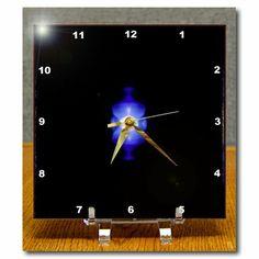 dc_56426_1 Jos Fauxtographee Abstract - Light Painting in Blue from a T.V. Screen on a Black Backdrop - Desk Clocks - 6x6 Desk Clock 3dRose,http://www.amazon.com/dp/B008GUIP5I/ref=cm_sw_r_pi_dp_M-Astb1FPQVBX6JK