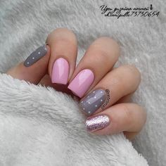 Simple Nail Designs for Short Nails To Do at Home - No matter how big the canvas is, art always remains art. If you prefer short nails then these desig - Grey Nail Designs, Best Nail Art Designs, Short Nail Designs, Simple Nail Designs, Nail Designs Summer Easy, Nagellack Design, Super Nails, Nagel Gel, Simple Nails