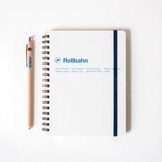 Rollbahn Spiral LARGE Notebook in White  | Omoi Zakka Shop