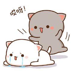 蜜桃猫 Cute Cartoon Images, Cute Cartoon Drawings, Cartoon Pics, Cute Cartoon Wallpapers, Cute Images, Cute Love Pictures, Cute Love Gif, Cute Cat Gif, Cute Cats