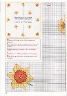 Gallery.ru / Фото #163 - 2 - irisha-ira Cross Stitch Needles, Cross Stitch Charts, Cross Stitch Designs, Cross Stitch Patterns, Cross Stitching, Cross Stitch Embroidery, Easter Tablecloth, Rico Design, Cross Stitch Flowers