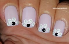 #Pastel #Purple #Nailart With #White #Marble #Flowers