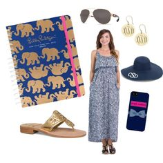 af88f21baa82 On Today's Lilly Agenda: Navy & Gold! by palmettomoon on Polyvore  featuring Jack