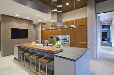 Modern kitchen with modern island design.