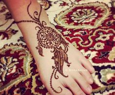 Henna foot design, but could be moved on to the hand or arm
