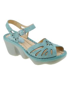 Teal Solstice Suede Sandal by Earth #zulily #zulilyfinds