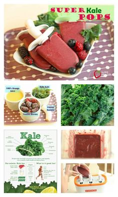 Super Kale Pops Recipe - Who knew you could add kale to popsicles, and the kids…