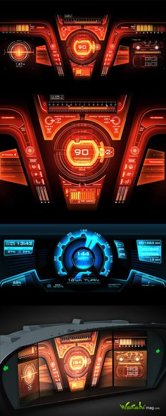 Game Ui Design, App Design, Spaceship Interior, Dashboard Ui, Head Up Display, Futuristic Design, User Interface Design, Science And Technology, Cyberpunk