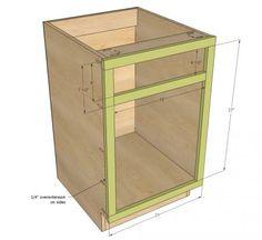 "21"" Base Cabinet Door/Drawer Combo (Momplex White Kitchen)"