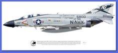 "McDonnell Douglas F-4J Phantom II VF-96 ""Fighting Falcons"", CVW-9, USS Constellation (CVA 64), 1972"