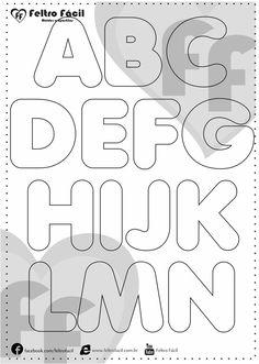 Molde de Letras - Seleção de Moldes de Letras para Artesanato em Feltro! - #artesanato #feltro #letras #molde #moldes #para #Seleção