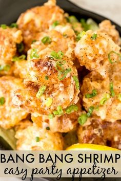 Bang Bang Shrimp Recipe The CopyCat recipe inspired by BoneFish Grill is going to win you over! Crispy fried battered shrimp coated in a homemade sweet and spicy sauce – pure perfection. Copycat Recipes, Fish Recipes, Seafood Recipes, Cooking Recipes, Healthy Recipes, Bonefish Grill Recipes, Fried Shrimp Recipes, Best Party Appetizers, Spicy Appetizers