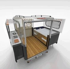 Tiny camper pod expands to 3 times its size - Curbed