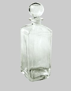 Glass perfume style bottle for table oils