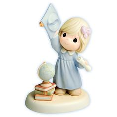 Precious Moments Figurines | Precious Moments - A World Of Possibilities - Graduation Girl Tossing ...