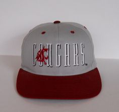 Vintage 1993 Washington State Cougars Snapback by Signatures (pre-owned)