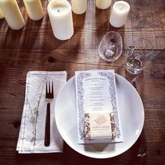 kinfolk dinner nyc menu. instagram by @alice_gao ....I love this simple place setting. The only thing I would change is to make the tall glass a mason jar.